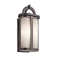 Kichler Rivera 1 Light Outdoor Wall - Medium in Architectural Bronze 49469AZ thumb