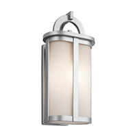 Kichler Rivera 1 Light Outdoor Wall - Xlarge in Platinum 49470PL