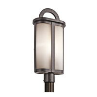 Kichler Rivera 1 Light Outdoor Post Lantern in Architectural Bronze 49471AZ