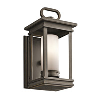 Kichler 49474RZ South Hope 1 Light 12 inch Rubbed Bronze Outdoor Wall Lantern photo thumbnail