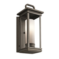 Kichler South Hope 1 Light Outdoor Wall Mount in Rubbed Bronze 49475RZFL