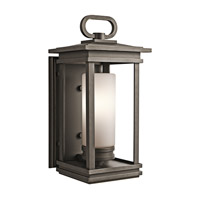 Kichler South Hope 1 Light Outdoor Wall Mount in Rubbed Bronze 49476RZFL