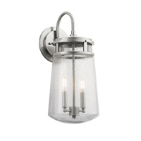 Kichler 49496BA Lyndon 2 Light 18 inch Brushed Aluminum Outdoor Wall Lantern