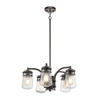 Kichler 49498AZ Lyndon 5 Light 24 inch Architectural Bronze Outdoor Chandelier