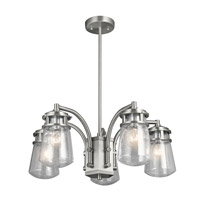Kichler 49498BA Lyndon 5 Light 24 inch Brushed Aluminum Outdoor Chandelier