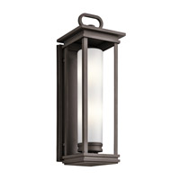 Kichler South Hope 2 Light Outdoor Wall Mount in Rubbed Bronze 49499RZ