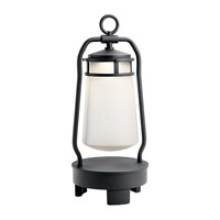 Kichler 49500BKTLED Lyndon 19 inch 3 watt Textured Black Portable LED Lantern, with Bluetooth Speaker