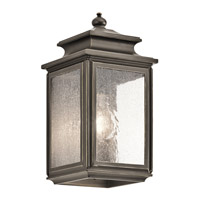 Kichler 49501OZ Wiscombe Park 1 Light 12 inch Olde Bronze Small Outdoor Wall