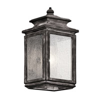Kichler Wiscombe Park 1 Light Outdoor Wall - Small in Weathered Zinc 49501WZC
