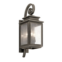 Kichler 49502OZ Wiscombe Park 3 Light 22 inch Olde Bronze Medium Outdoor Wall