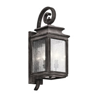 Kichler 49502WZC Wiscombe Park 3 Light 22 inch Weathered Zinc Outdoor Wall - Medium