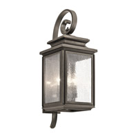 Kichler 49503OZ Wiscombe Park 4 Light 26 inch Olde Bronze Large Outdoor Wall