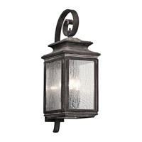 Kichler Wiscombe Park 4 Light Outdoor Wall - Large in Weathered Zinc 49503WZC
