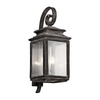 Kichler Wiscombe Park 4 Light Outdoor Wall - Xlarge in Weathered Zinc 49504WZC