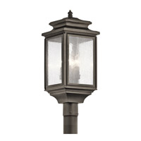Kichler Wiscombe Park 4 Light Outdoor Post Lantern in Olde Bronze 49506OZ