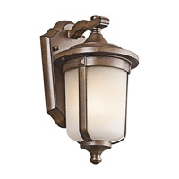 Kichler Lighting Gadsden 1 Light Outdoor Wall Lantern in Brown Stone 49507BST photo thumbnail