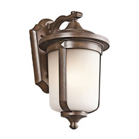 Kichler Lighting Gadsden 1 Light Outdoor Wall Lantern in Brown Stone 49509BST photo thumbnail