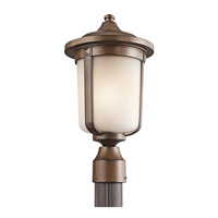 Kichler Lighting Gadsden 1 Light Outdoor Post Lantern in Brown Stone 49510BST photo thumbnail