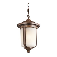 Kichler Lighting Gadsden 1 Light Outdoor Pendant in Brown Stone 49511BST