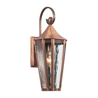 Kichler Rochdale 1 Light Outdoor Wall - Medium in Antique Copper 49512ACO