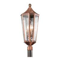 Kichler Rochdale 4 Light Outdoor Post Lantern in Antique Copper 49516ACO