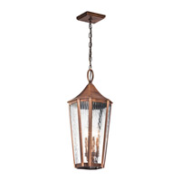Kichler Rochdale 4 Light Outdoor Hanging Pendant in Antique Copper 49517ACO