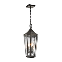 Kichler 49517OZ Rochdale 4 Light 12 inch Olde Bronze Outdoor Hanging Pendant