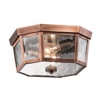 Kichler Rochdale 2 Light Outdoor Flush & Semi Flush Mt in Antique Copper 49518ACO