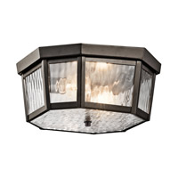 Kichler 49518OZ Rochdale 2 Light 12 inch Olde Bronze Outdoor Flush & Semi Flush Mt