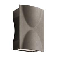 Kichler 49519AZTLED Brive 2 Light 9 inch Textured Architectural Bronze Outdoor Wall Mount