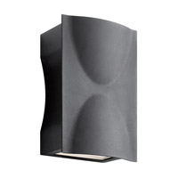 Brive 9 inch Textured Black Outdoor Wall Mount