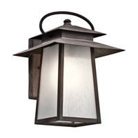 Kichler Woodland Lake 1 Light Outdoor Wall - Medium in Weathered Zinc 49530WZC