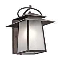Kichler Woodland Lake 1 Light Outdoor Wall - Xlarge in Weathered Zinc 49531WZC