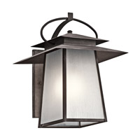 Kichler Woodland Lake 1 Light Outdoor Wall - Large in Weathered Zinc 49532WZC