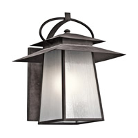 Kichler Woodland Lake 1 Light Outdoor Wall - Xlarge in Weathered Zinc 49533WZC