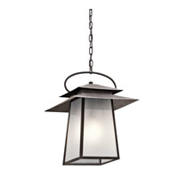 Kichler Woodland Lake 1 Light Outdoor Hanging Pendant in Weathered Zinc 49535WZC