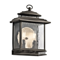 Kichler Pettiford 2 Light Outdoor Wall in Olde Bronze 49541OZ