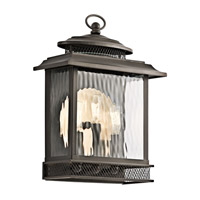 Kichler Pettiford 3 Light Outdoor Wall in Olde Bronze 49542OZ photo thumbnail