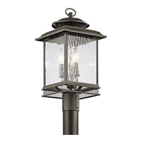 Kichler Pettiford 3 Light Outdoor Post Lantern in Olde Bronze 49543OZ