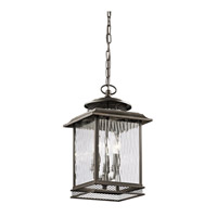 Kichler Pettiford 3 Light Outdoor Hanging Pendant in Olde Bronze 49544OZ