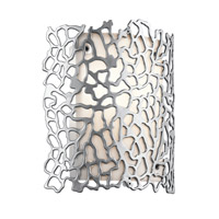 Kichler Silver Coral 1 Light Outdoor Wall in Platinum 49548PL