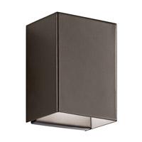 Kichler 49550AZLED Walden LED 7 inch Architectural Bronze Outdoor Wall Lantern