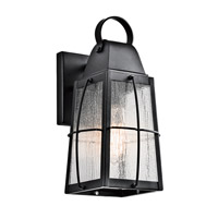 Kichler 49552BKT Tolerand 1 Light 12 inch Textured Black Outdoor Wall Sconce, Small photo thumbnail