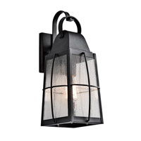 Kichler Tolerand 1 Light Outdoor Wall in Textured Black 49553BKT