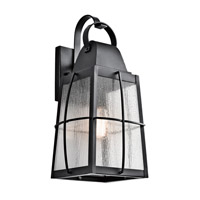 Kichler Tolerand 1 Light Outdoor Wall in Textured Black 49554BKT