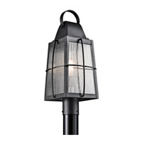 Kichler Tolerand 1 Light Outdoor Post Lantern in Textured Black 49555BKT