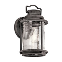 Kichler Ashland Bay 1 Light Small Outdoor Wall in Weathered Zinc 49569WZC