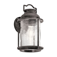 Kichler Ashland Bay 1 Light Medium Outdoor Wall in Weathered Zinc 49570WZC