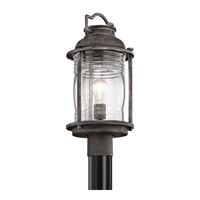 Kichler Ashland Bay 1 Light Outdoor Post Lantern in Weathered Zinc 49573WZC
