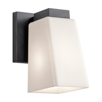 Kichler Signature 1 Light Outdoor Wall Mount in Textured Black Polycarbonate 49577BKTP